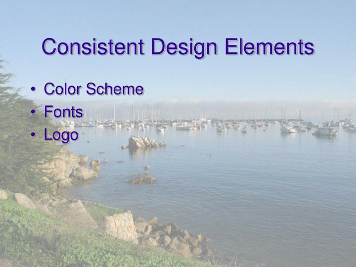 Consistent Design Elements