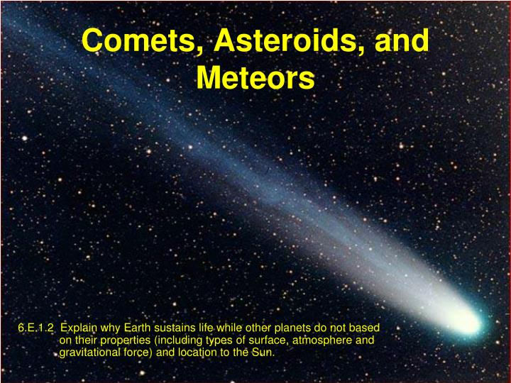 PPT - Comets, Asteroids, and Meteors PowerPoint ...