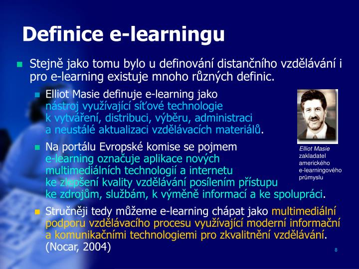 Definice e-learningu