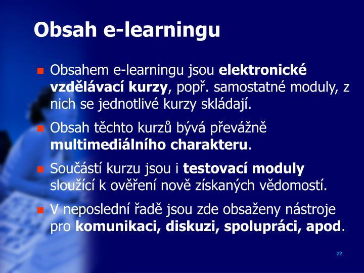 Obsah e-learningu