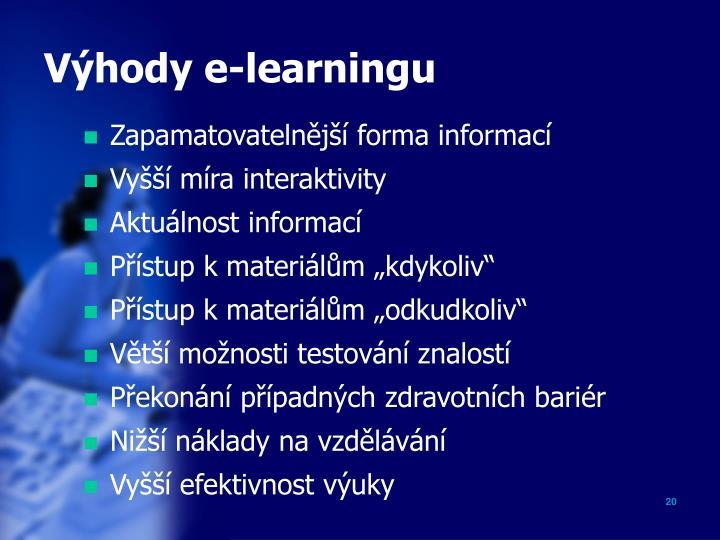 Výhody e-learningu