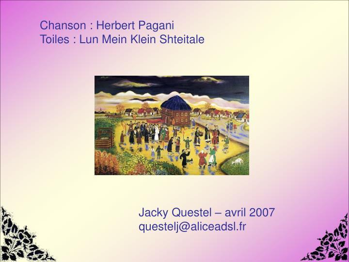Chanson : Herbert Pagani