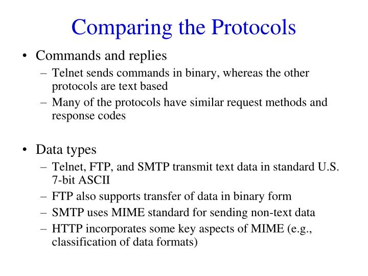 Comparing the Protocols