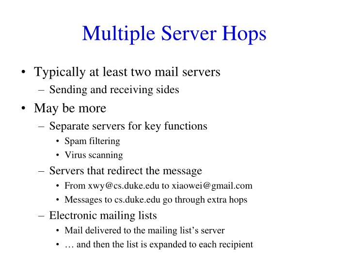Multiple Server Hops