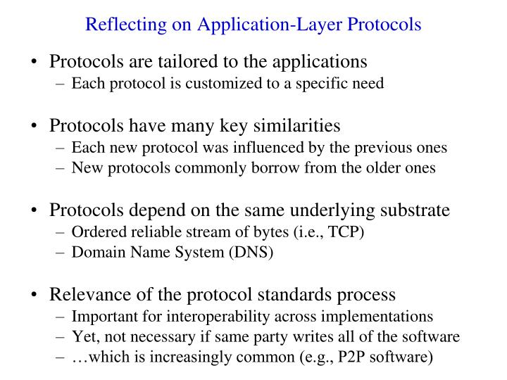 Reflecting on Application-Layer Protocols