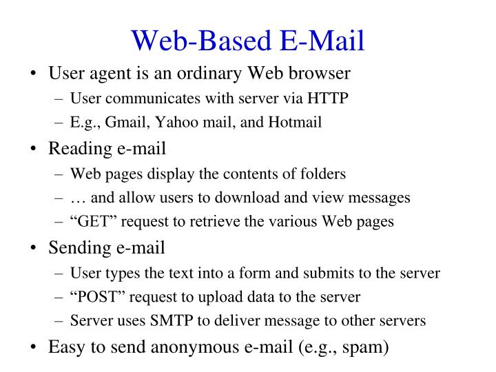 Web-Based E-Mail