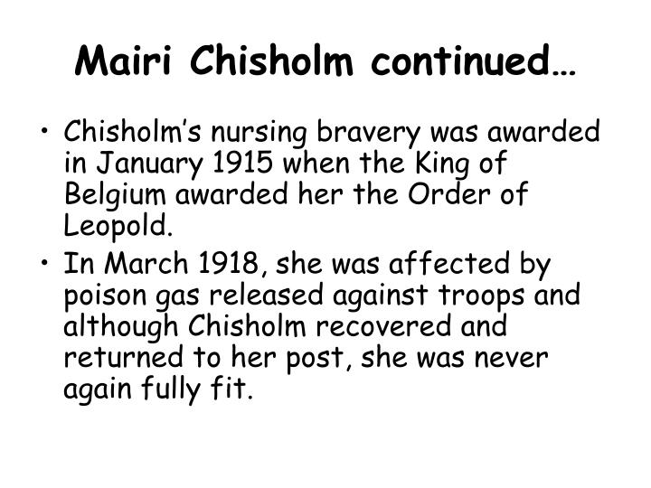 Mairi Chisholm continued…