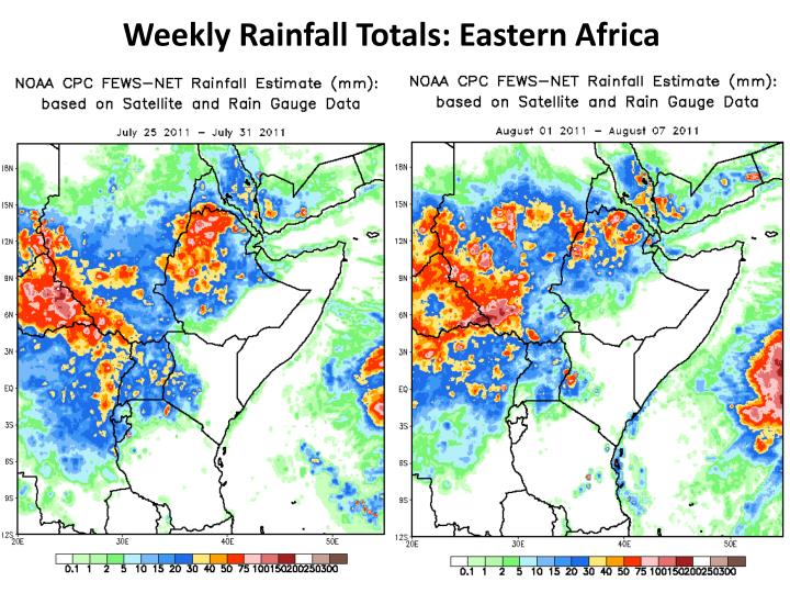 Weekly Rainfall Totals: Eastern Africa