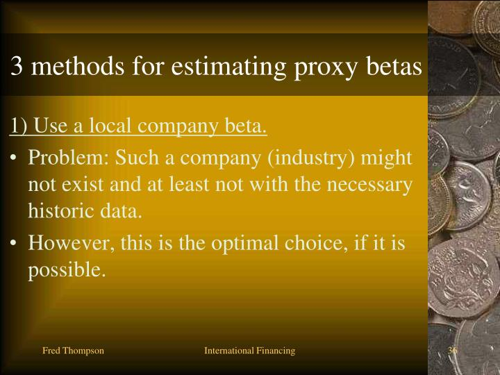 3 methods for estimating proxy betas