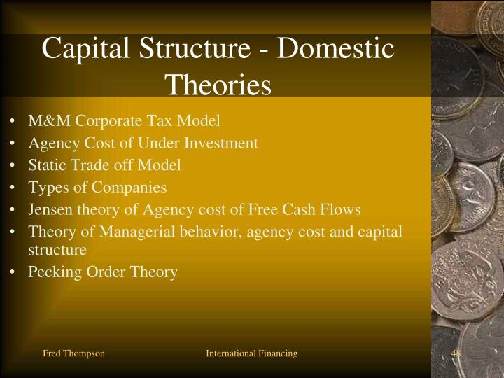 Capital Structure - Domestic Theories