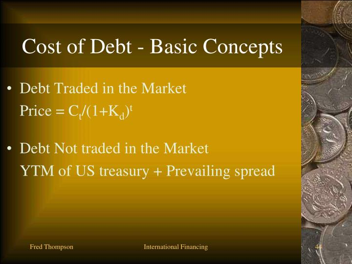 Cost of Debt - Basic Concepts