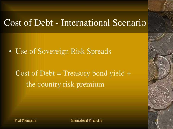 Cost of Debt - International Scenario