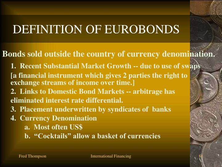 DEFINITION OF EUROBONDS