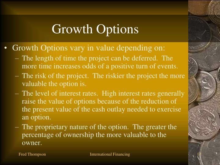 Growth Options