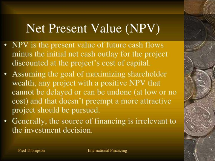 Net present value npv