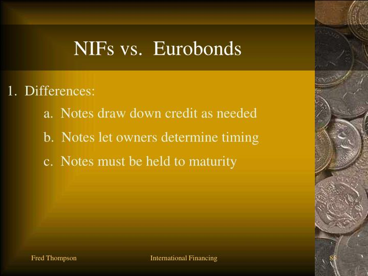 NIFs vs.  Eurobonds