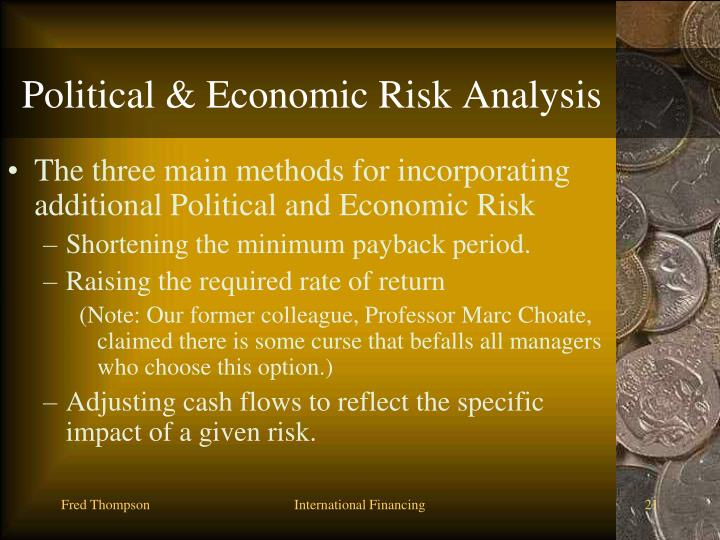Political & Economic Risk Analysis