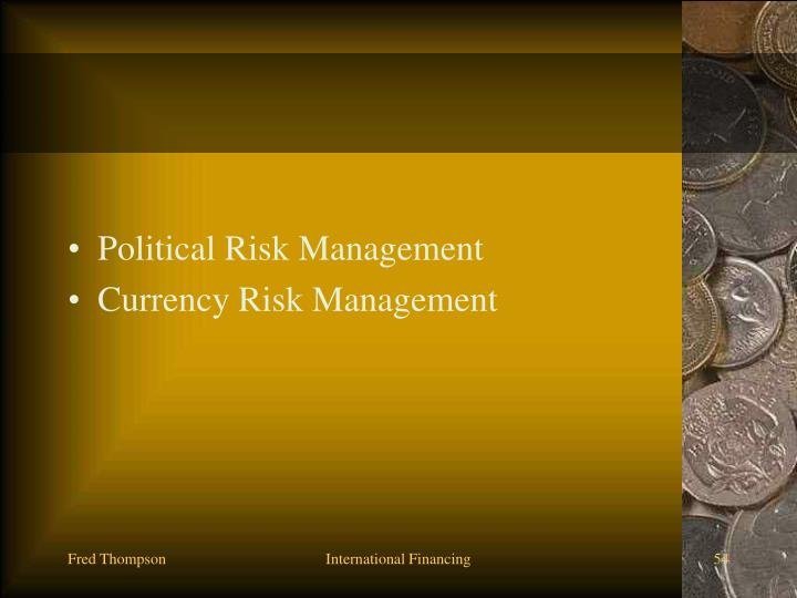Political Risk Management