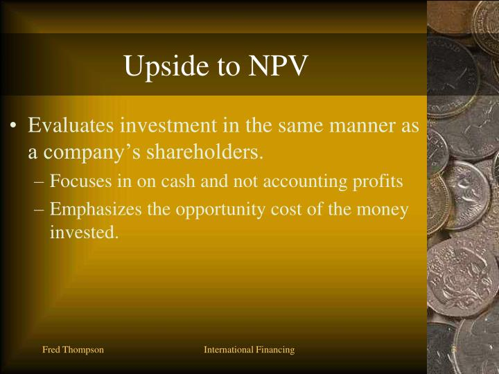 Upside to NPV