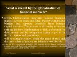 what is meant by the globalization of financial markets