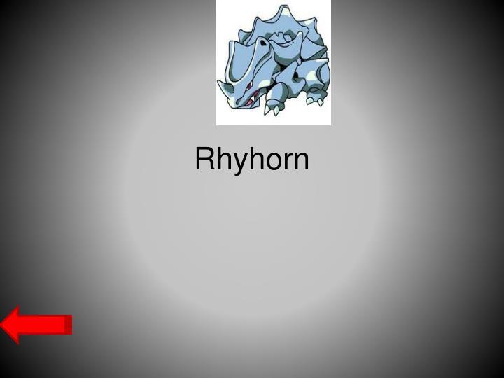 Rhyhorn