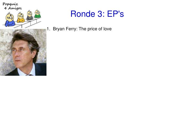 Ronde 3 ep s1