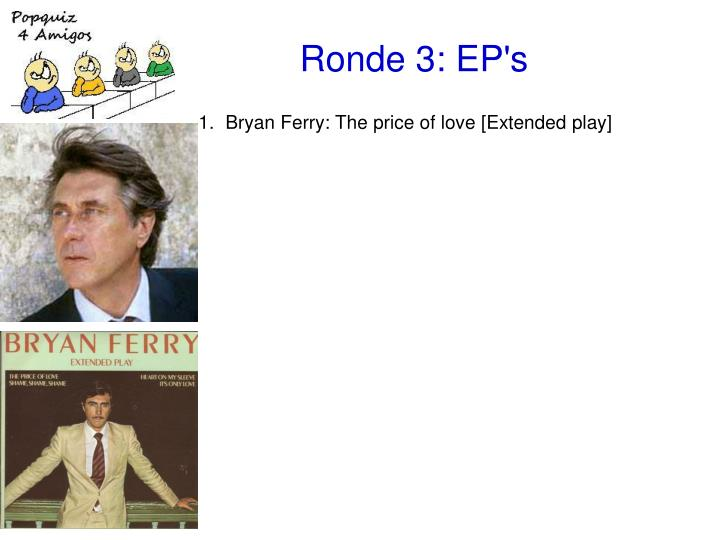 Bryan Ferry: The price of love [Extended play]