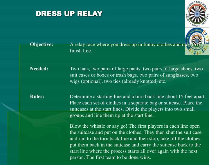 DRESS UP RELAY