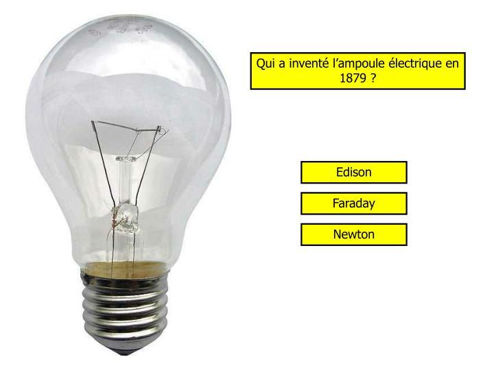 Qui a inventé l'ampoule électrique en 1879 ?