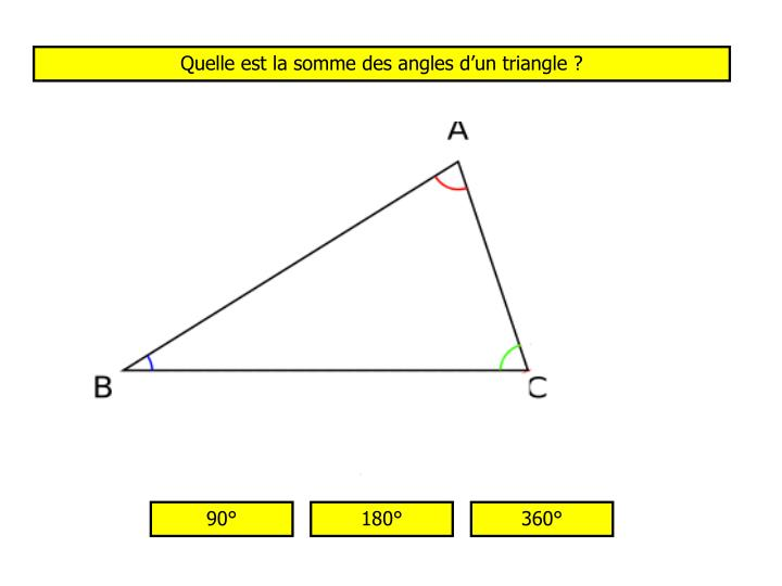 Quelle est la somme des angles d'un triangle ?