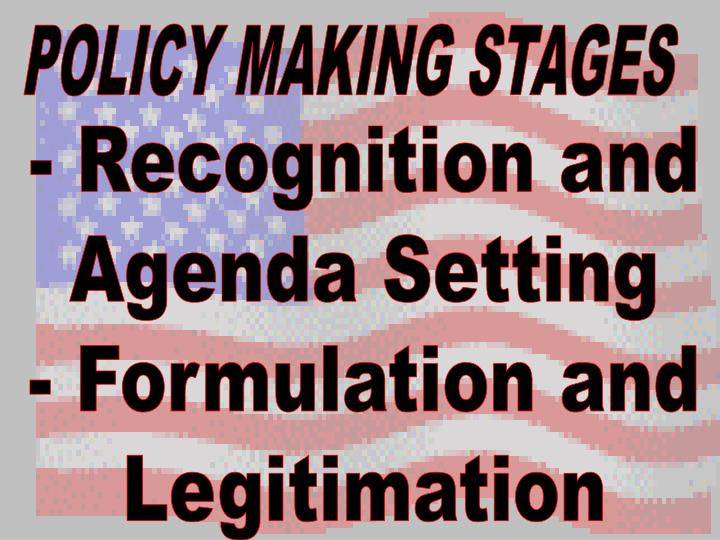 stages of policy making immigration policy Policy making diagram long description of diagram policy making is a cyclical  process it begins in the agenda setting stage with recognition and definition of a .