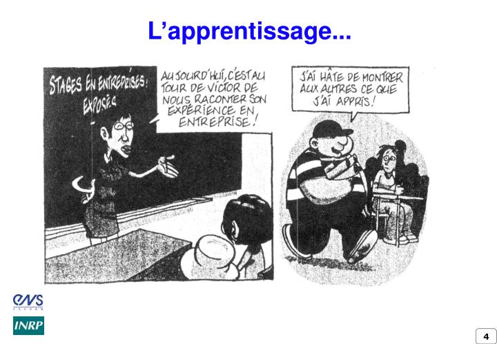 L'apprentissage...