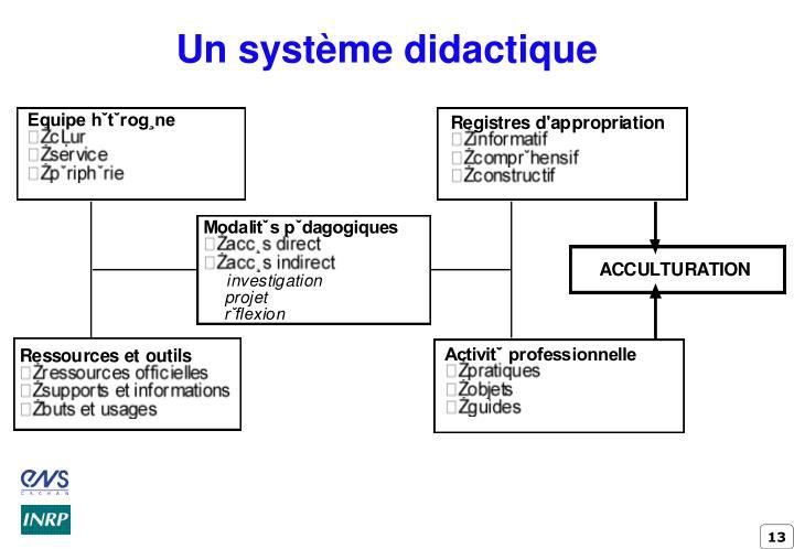 Un système didactique