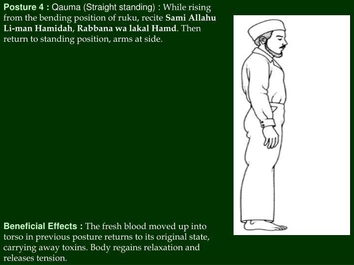 Posture 4 :