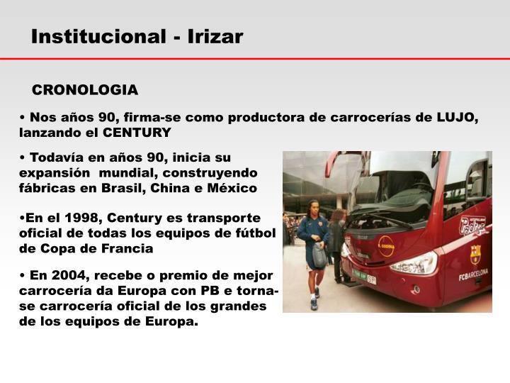 Institucional - Irizar