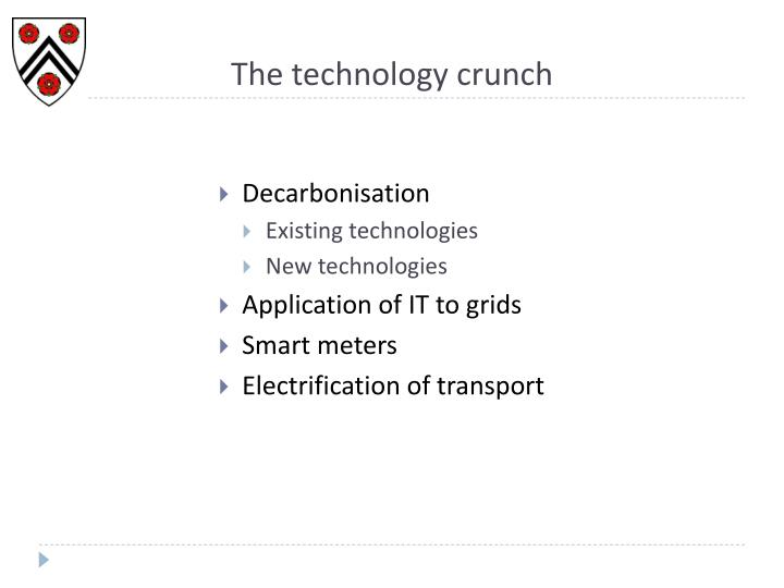The technology crunch