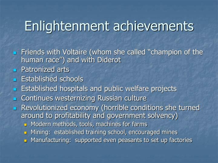 Enlightenment achievements