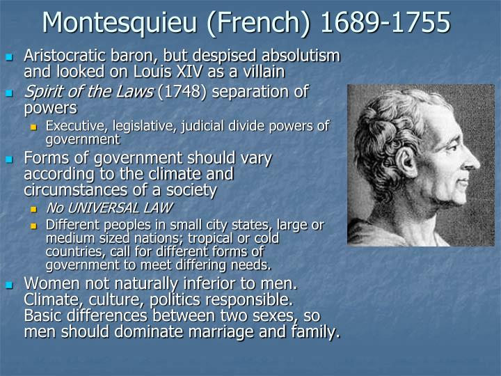 Montesquieu (French) 1689-1755