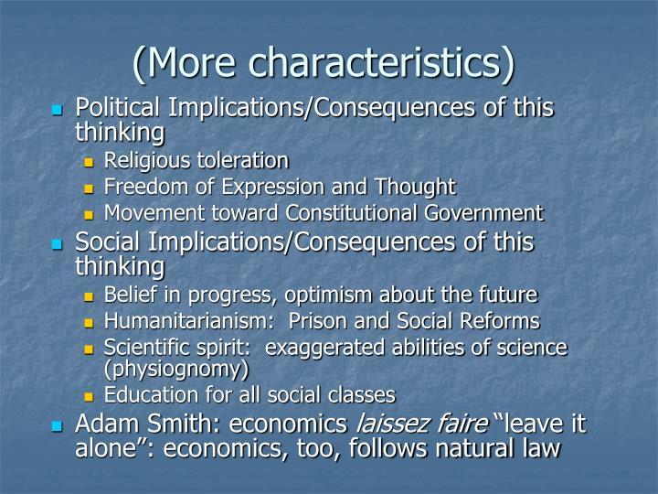 (More characteristics)