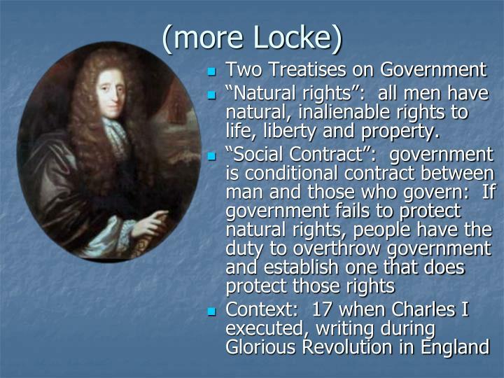 (more Locke)