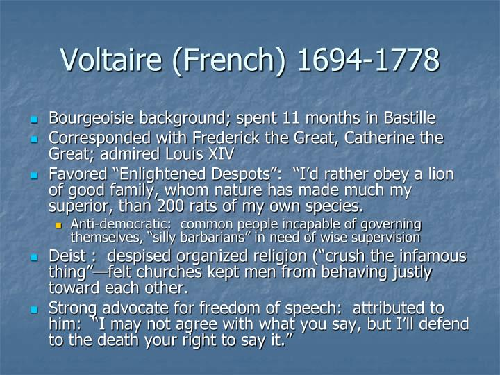 Voltaire (French) 1694-1778