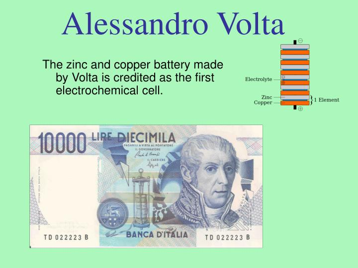 Who was the inventor of the first electrochemical battery