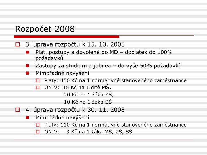 Rozpočet 2008