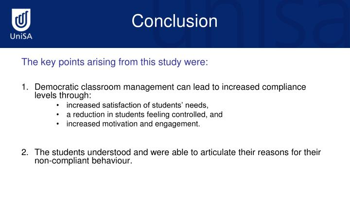 The key points arising from this study were: