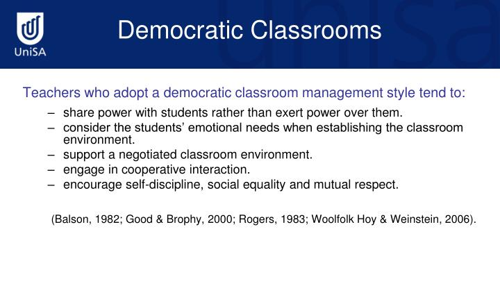 Teachers who adopt a democratic classroom management style tend to: