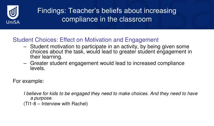 Student Choices: Effect on Motivation and Engagement
