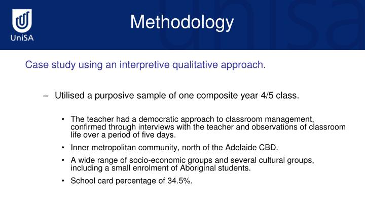 Case study using an interpretive qualitative approach.