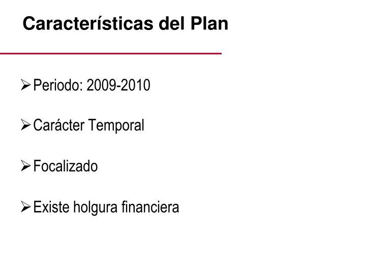 Características del Plan