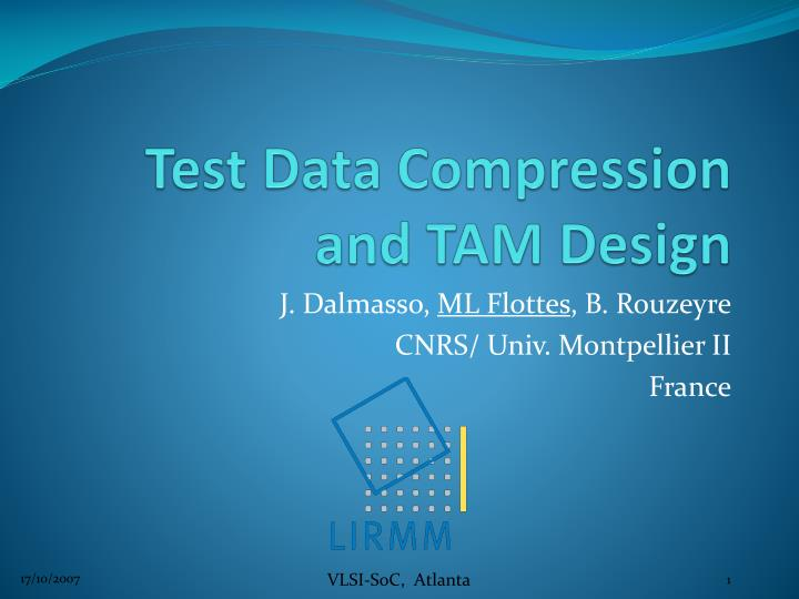 Test data compression and tam design
