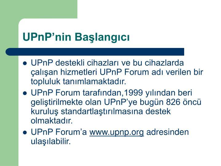 UPnP'nin Başlangıcı